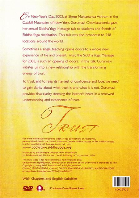 TRUST (Siddha Yoga Message for 2003): DVD